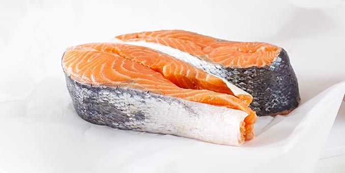 Salmon, a high-quality ingredients used in Hill's pet food.